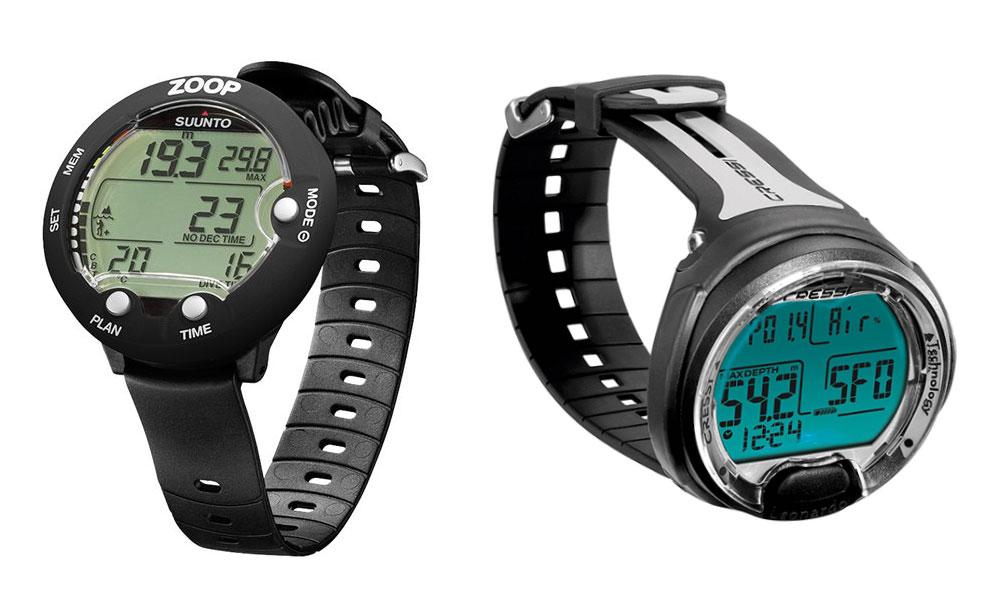 Affordable scuba diving watches computer suunto zoop novo vs cressi leonardo splash dive - Suunto dive watch ...