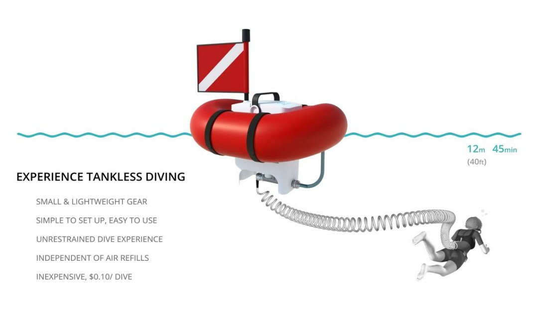 airbuddy scuba diving tank