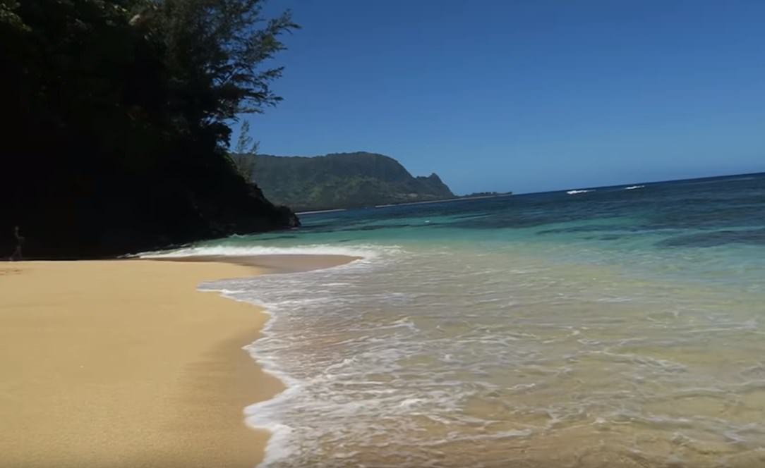 Ainini Beach Country Park in Kauai Island