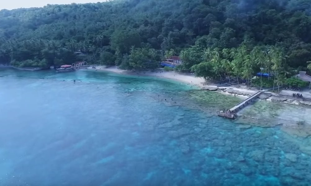 Namalatu Beach is a traveler's favorite destination in Ambon