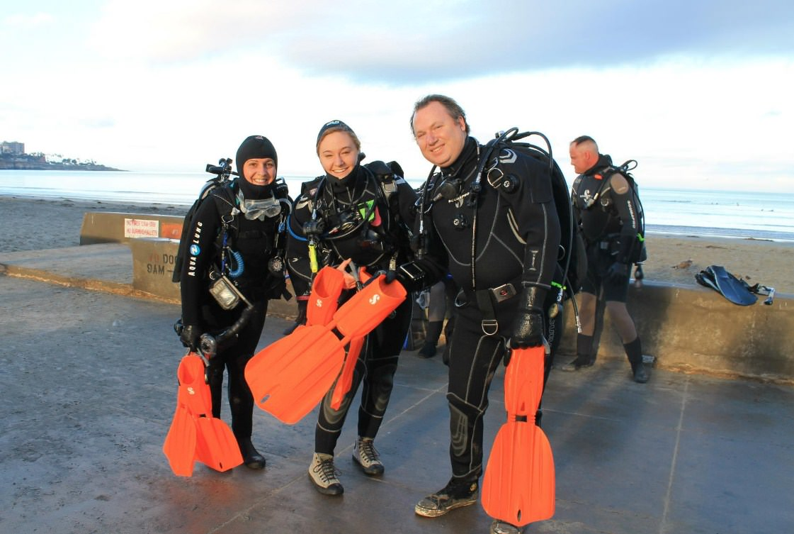 Open water diver class is designed for beginners