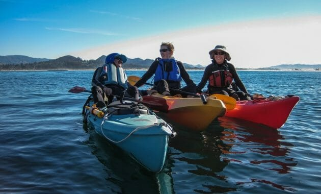 L-R Rouvaishyana In Blue Ocean Kayak. Judy West In Orange … | Flickr