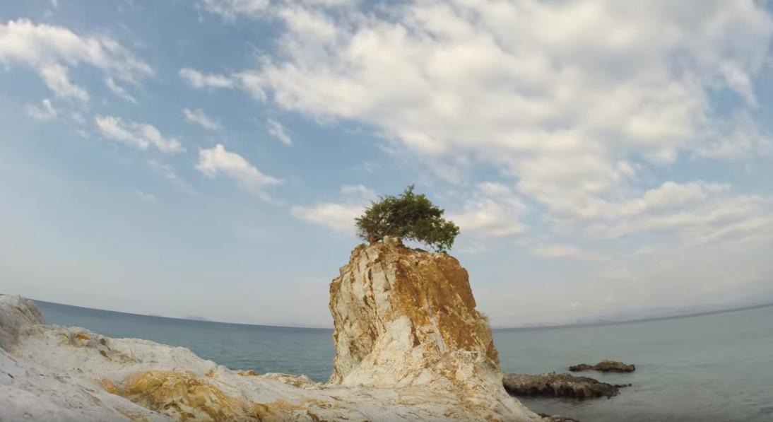 Kanawa unhabited island in komido island Flores lifeboard