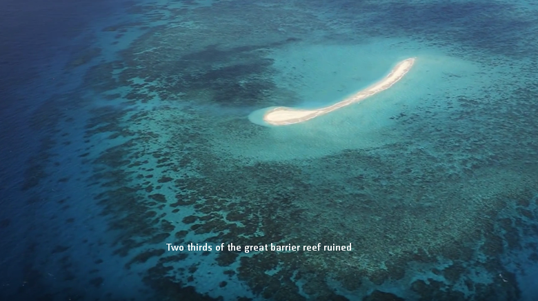 two thirds of the great barrier reef ruined
