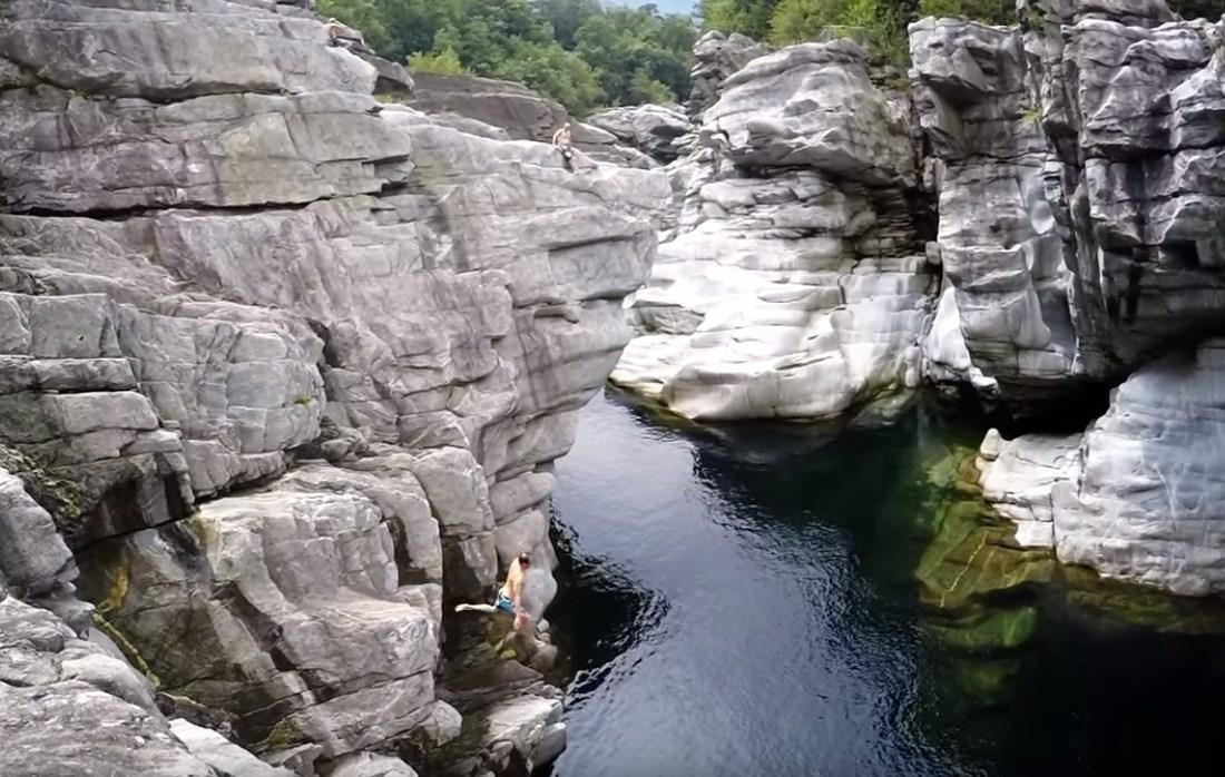 Cliff Diving Extreme Adventure in Brontallo, Switzerland