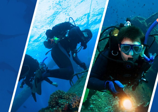 Open Water Scuba Diving Certification, Advanced Scuba Diving Certification, and PADI Refresher Course Key West